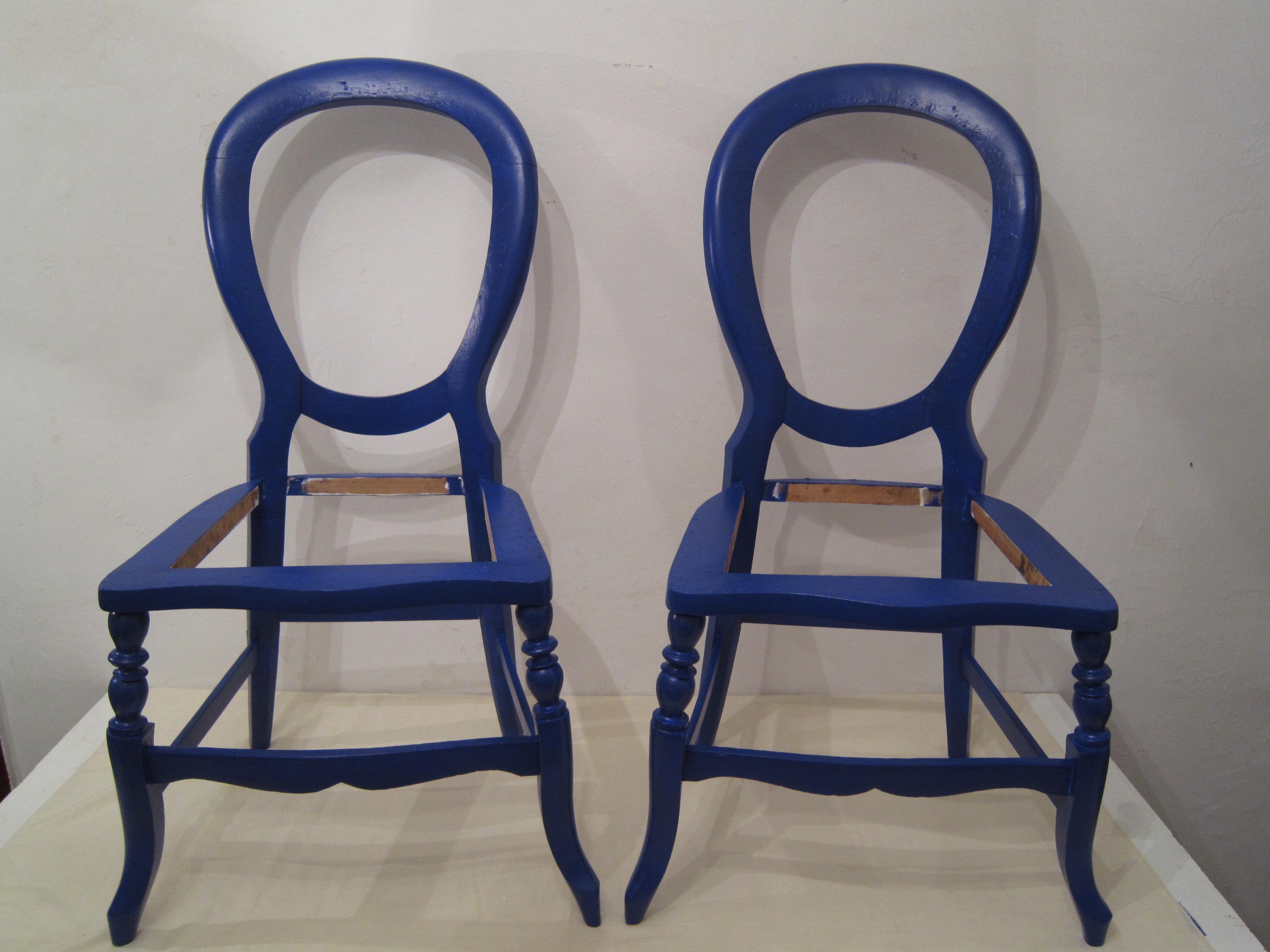 Las sillas una vez pintadas
